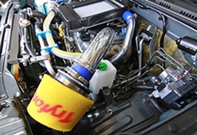 「装着例はレーシングサクションバージョンK&N」 ※プライマリーフィルターは別売