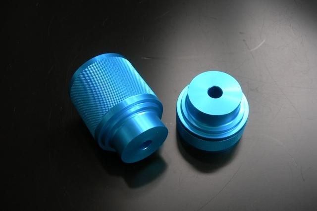 ソフトバンプラバーブラケット フロント1~2インチUP用/ブルーアルマイト