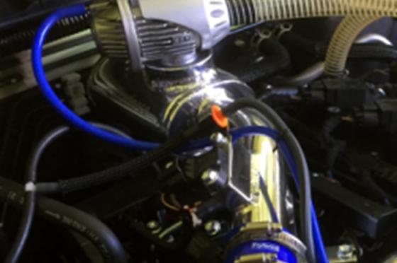 ブローオフバルブアダプター付スーパーファンネルスロットルチャンバー(純正エアクリーナーボックス非対応)HKS/SQV用